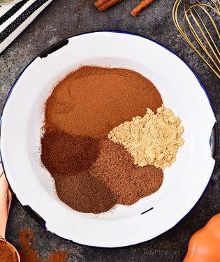 pumpkin pie spice ingredients in a bowl