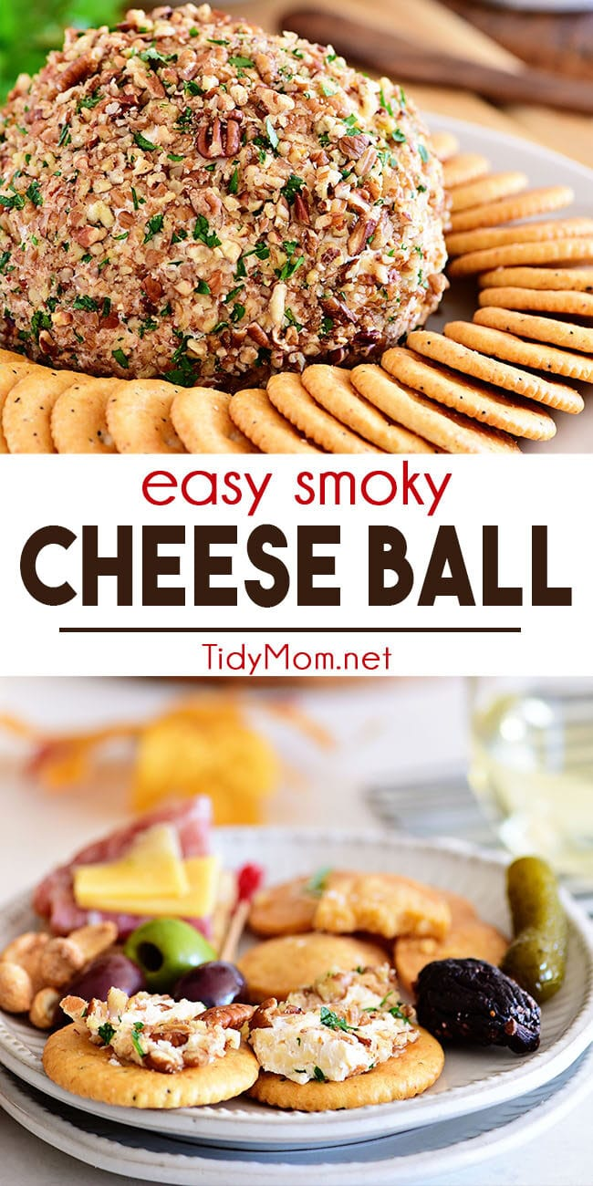 easy cheese ball photo collage