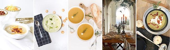 5 fall soups beautifully styled
