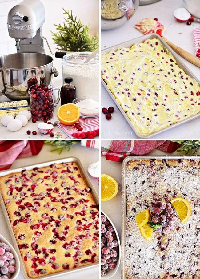 How to makeCranberry Orange Cake photo collage