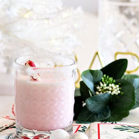 Snowflake Peppermint Cocktail