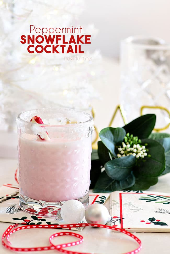pink peppermint cocktail