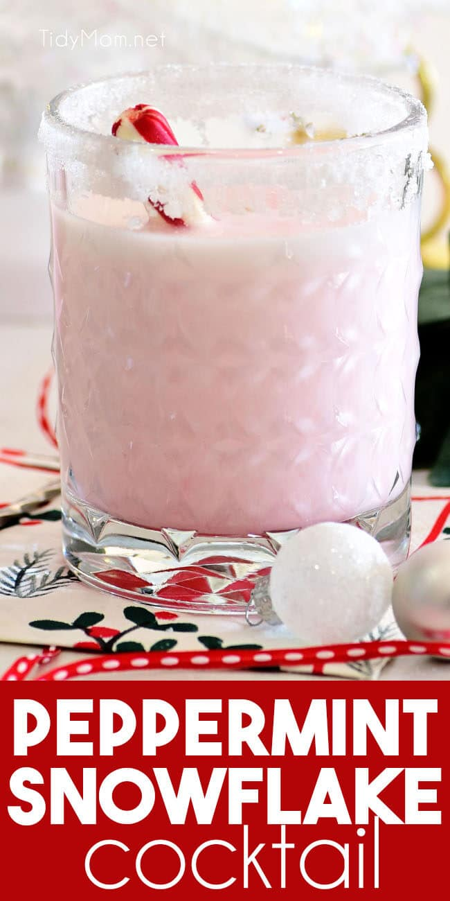 pink Snowflake Peppermint Cocktail