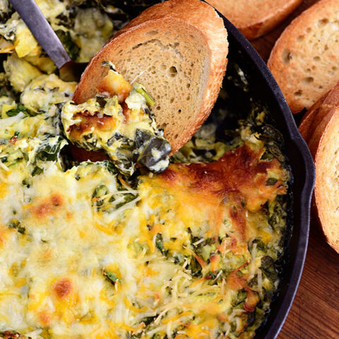 hot and cheesy Spinach Artichoke Dip