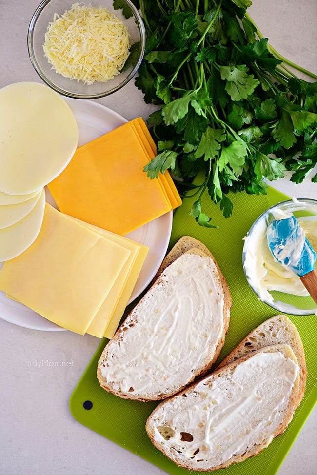 The BEST Grilled Cheese Sandwich ingredients
