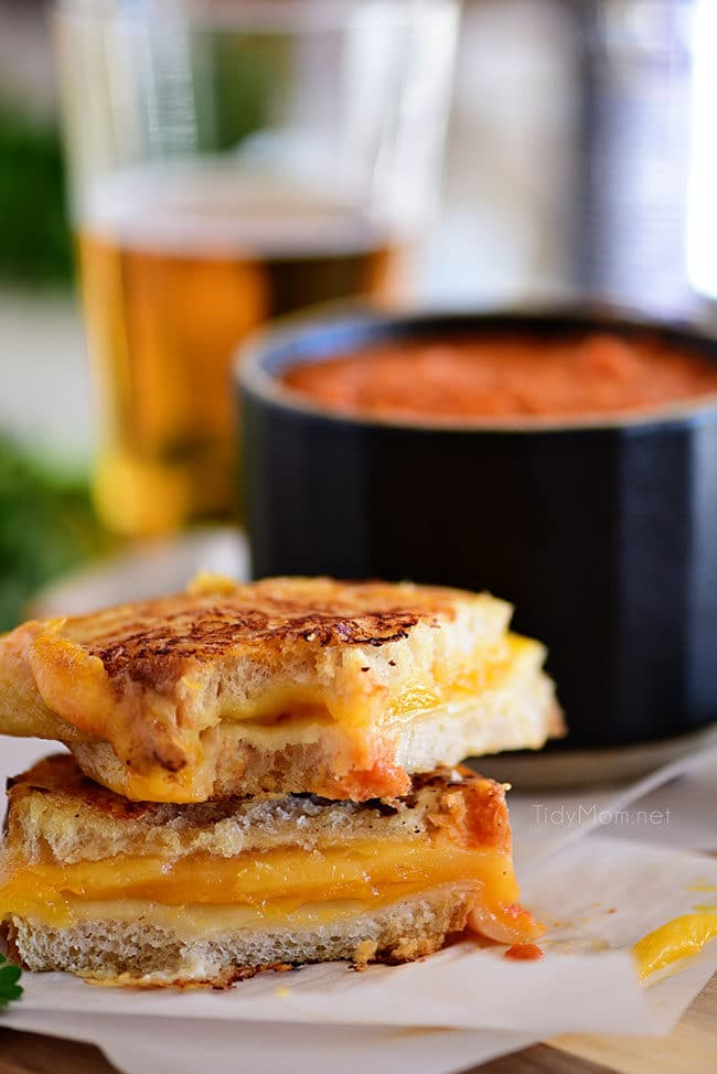 The BEST Grilled Cheese Sandwich cut in half