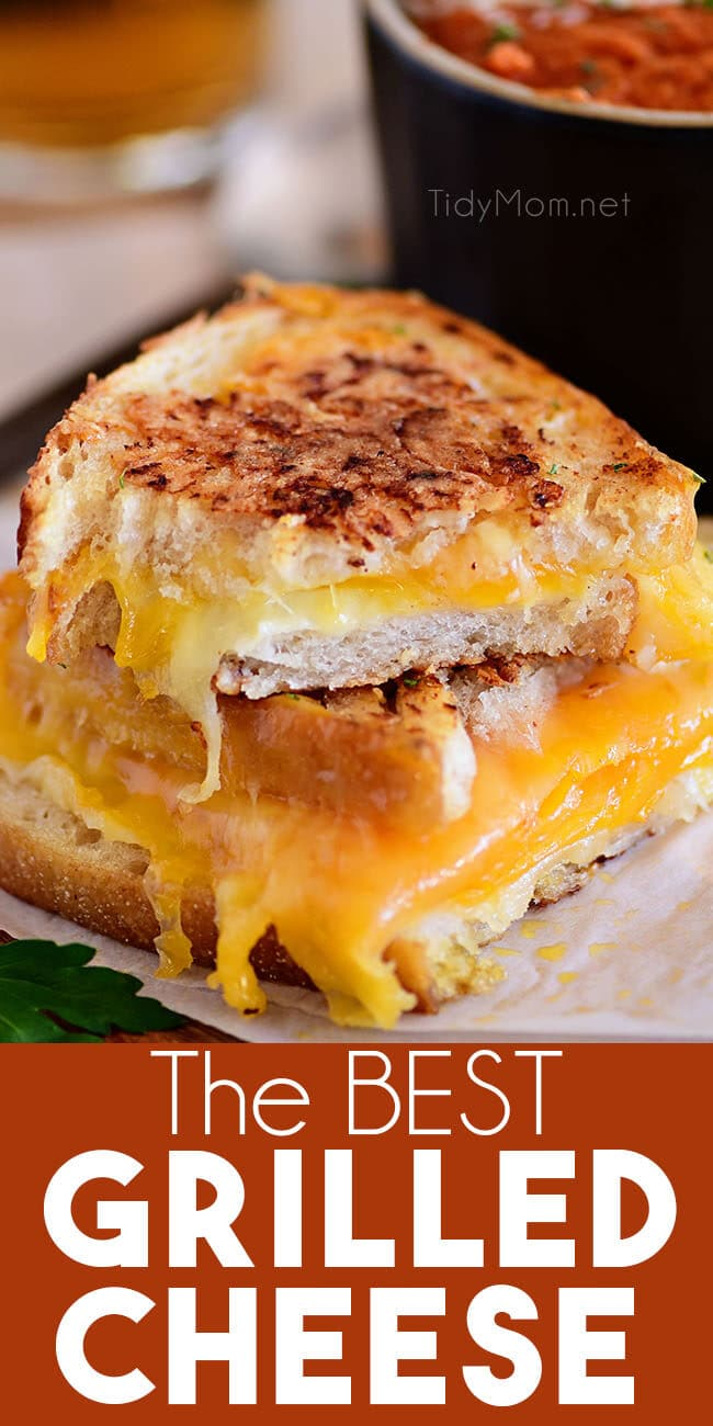The BEST Toasted Cheese Sandwich