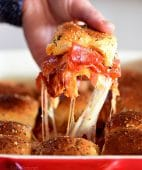 Chessy pepperoni Pizza Sliders