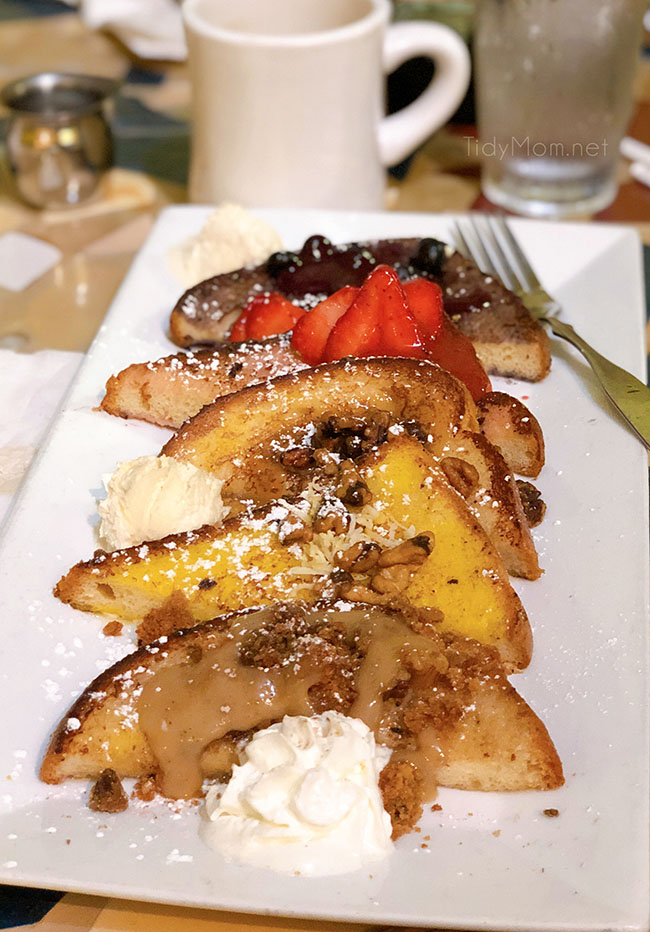 french toast flight from Batter and Berries Chicago restaurant