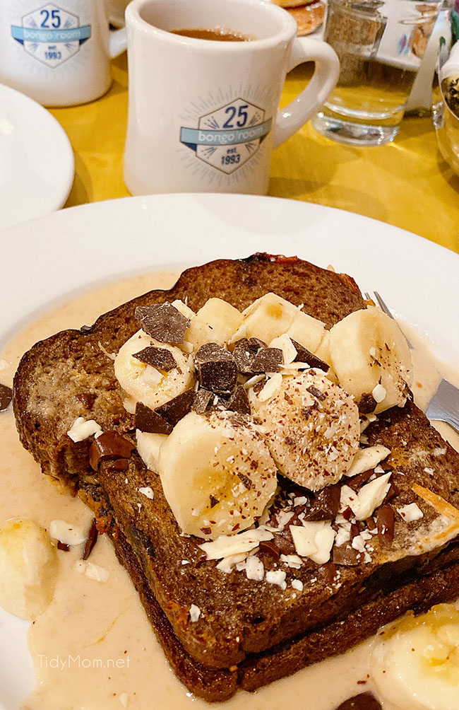 french toast from Bongo Room Chicago restaurant