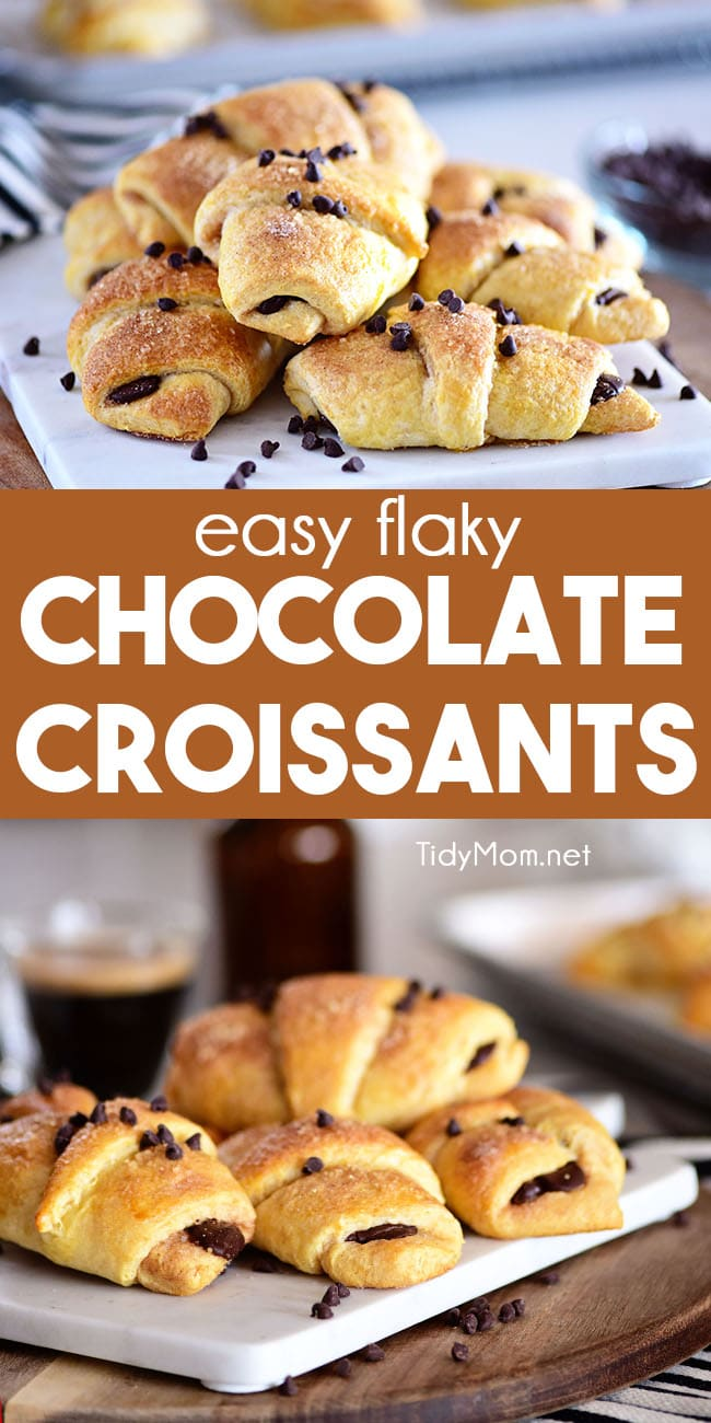 easy Chocolate Croissants photo collage