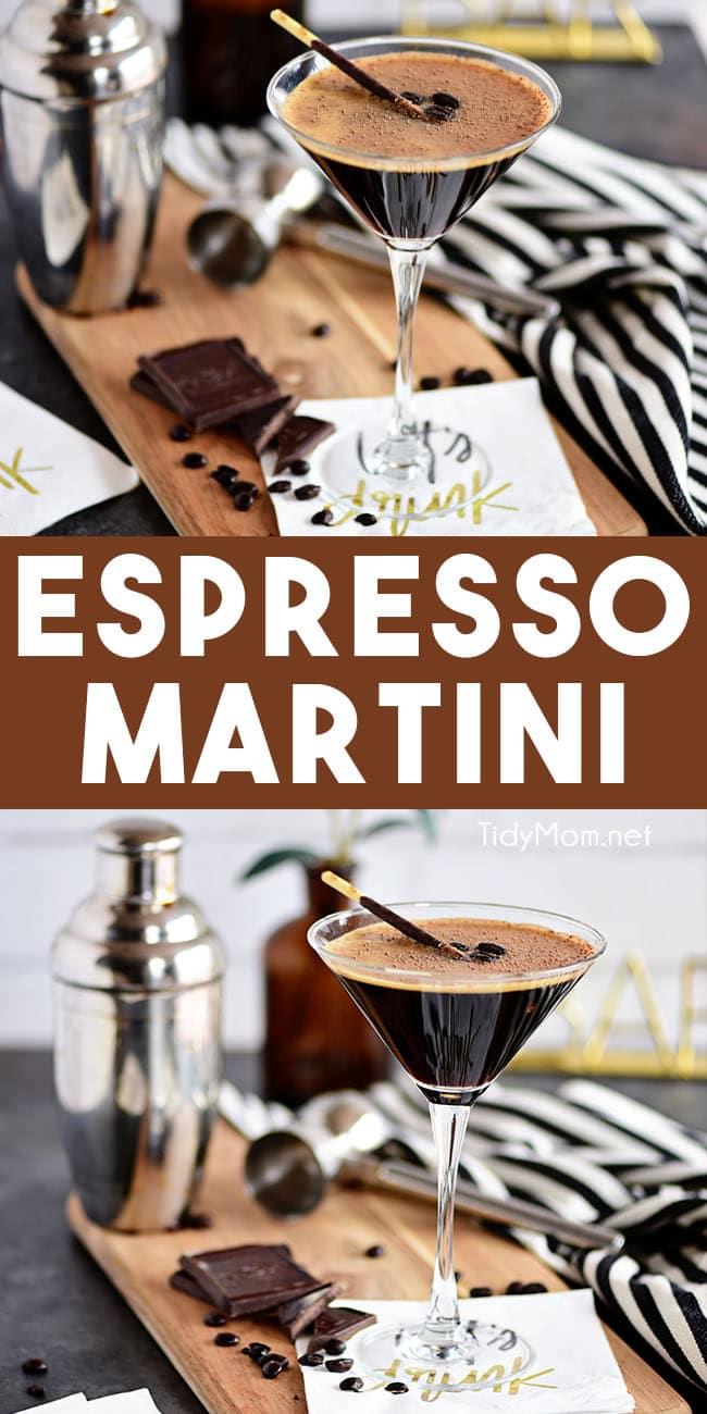 espresso martini photo collage