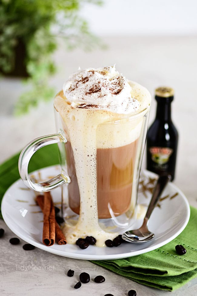 Creamy Bailey's Irish Coffee Cocktail