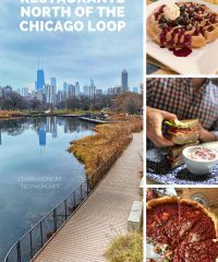 restaurants north of the Chicago loop photo collage