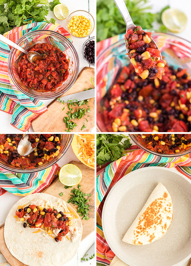 how to make quesadillas photo collage