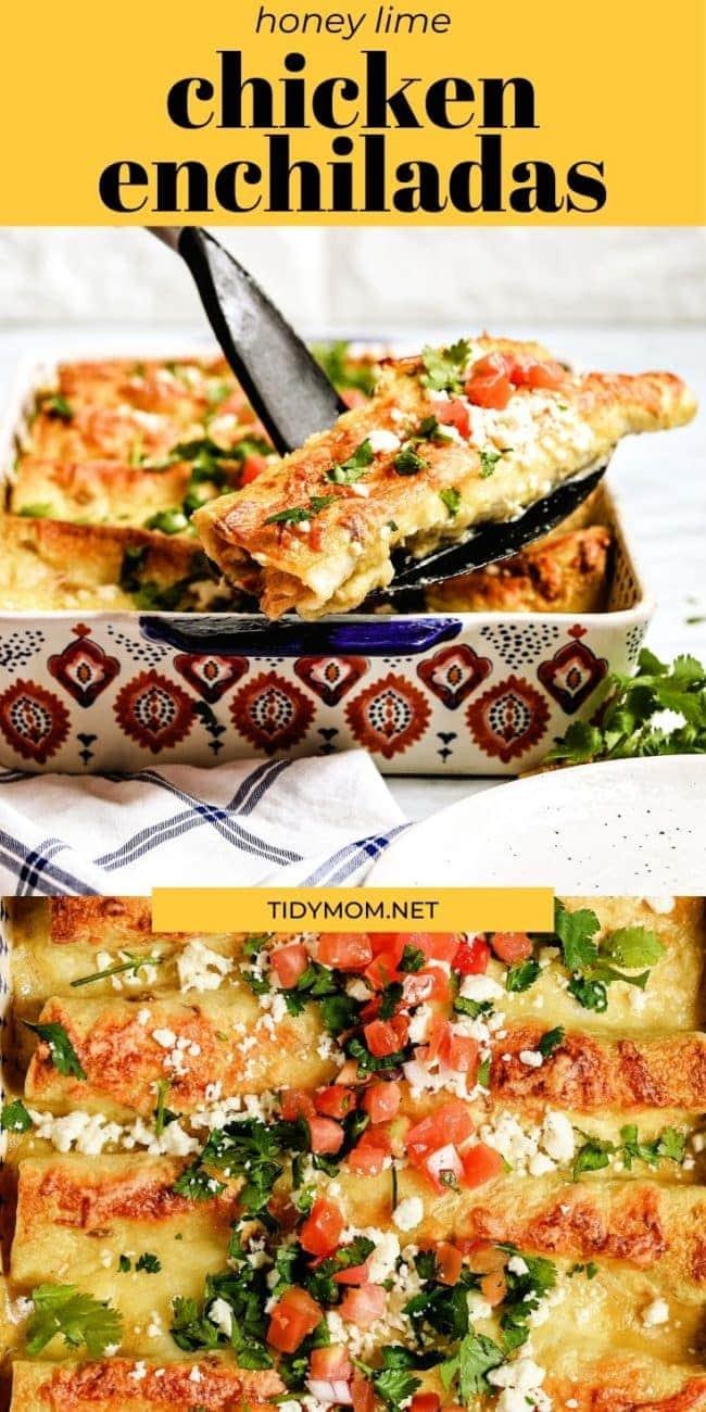 enchiladas photo collage
