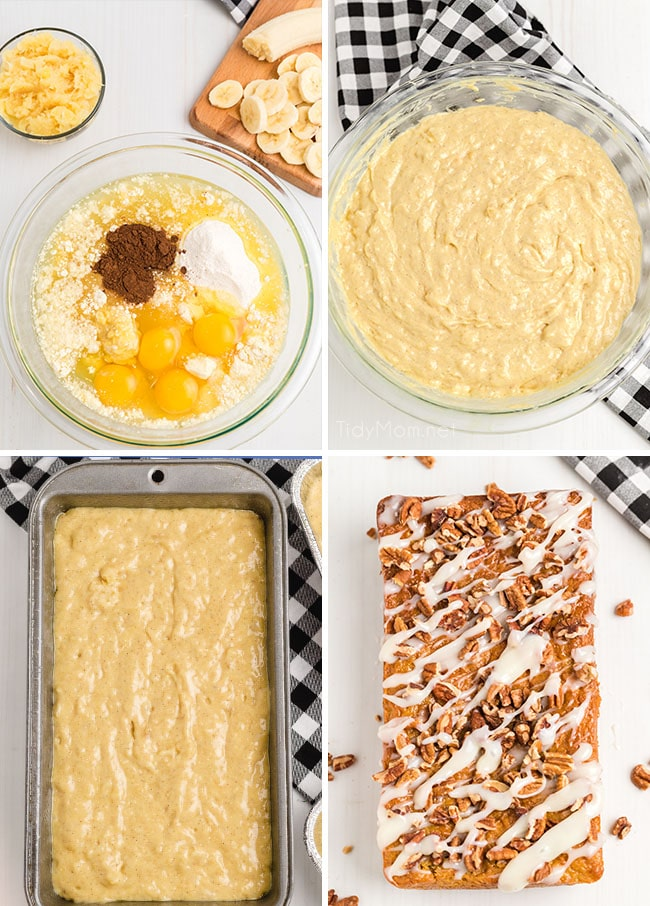 How to make hummingbird cake photo collage