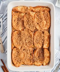 baked french toast in a casserole dish