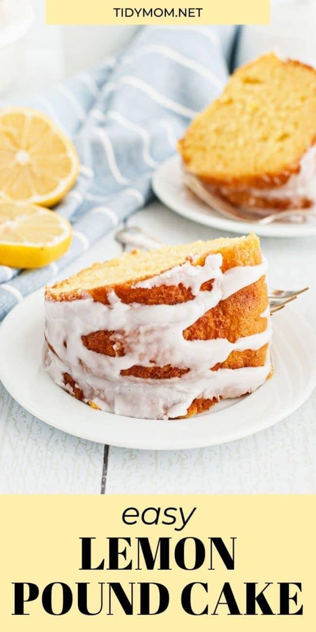 lemon bundt cake sliced and platted