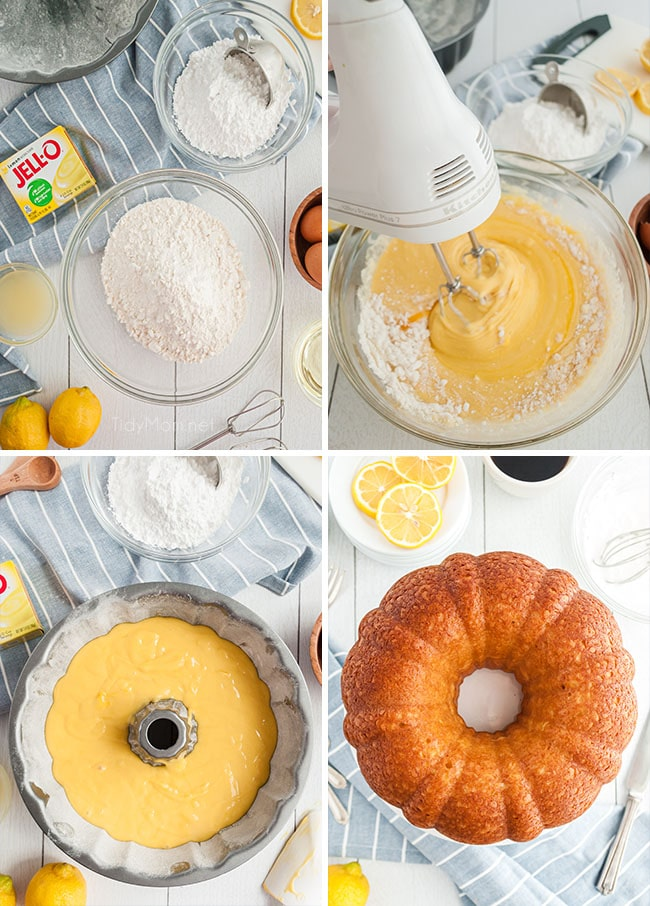 step by step photos for making a lemon pound cake