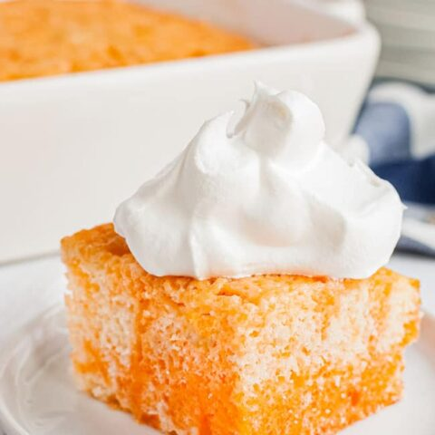 Orange Dreamsicle Jello Cake