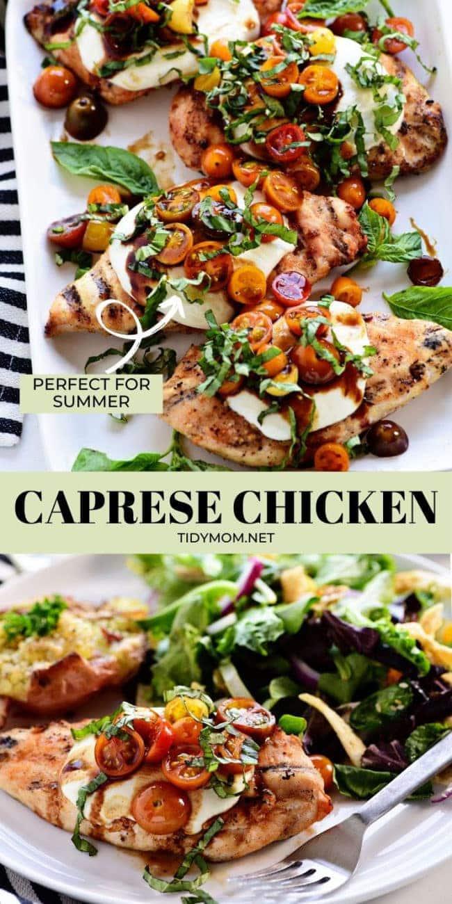 fresh caprese grilled chicken