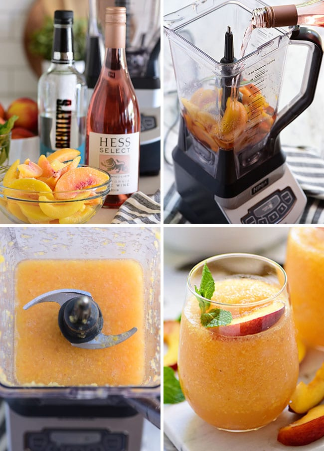 frozen cocktail photo collage