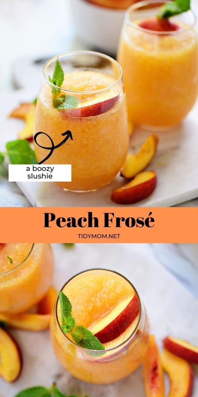 peach slushies photo collage