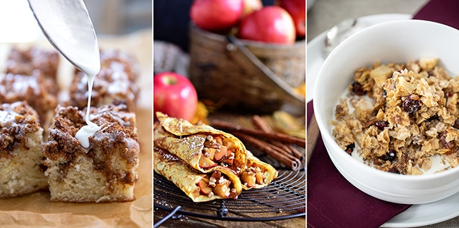fall breakfast ideas photo collage