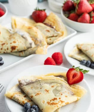 nutella crepes folded