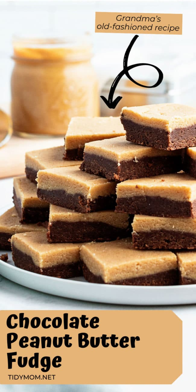 stack of fudge cut into servings