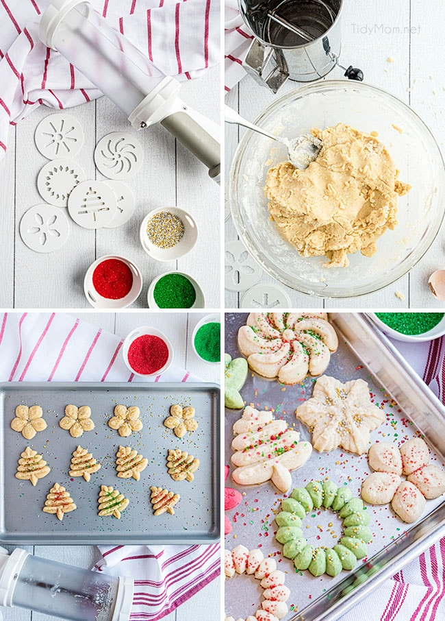 how to make spritz cookies photo collage