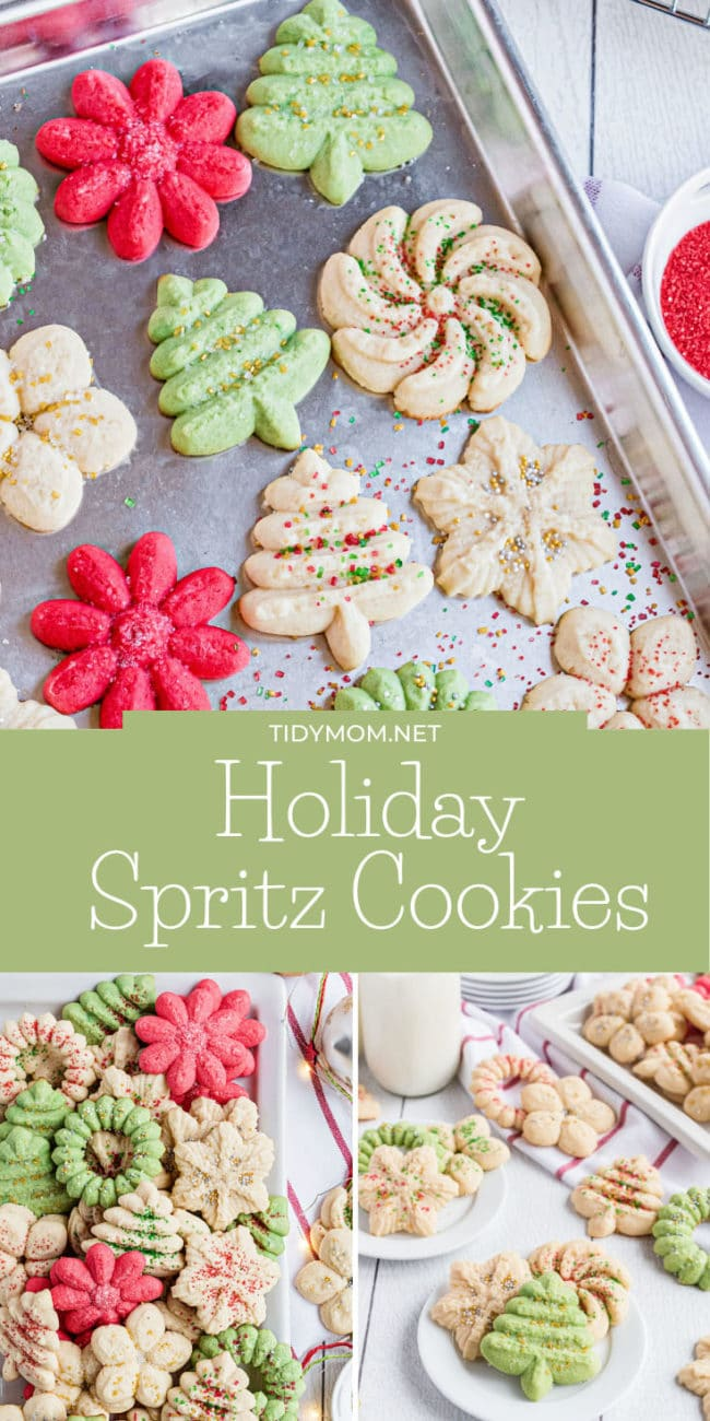 Christmas cookies in red, green and cream colors
