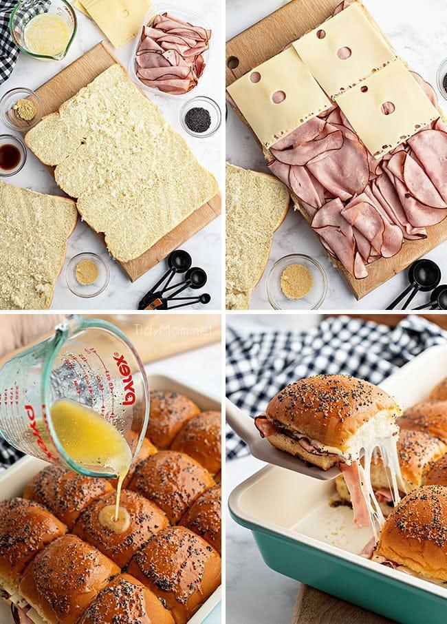 how to make ham sliders photo collage