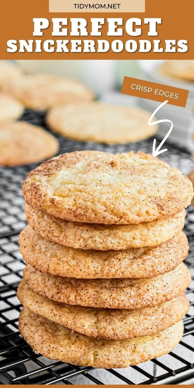 Six cookies in a stack on a wire cooling rack