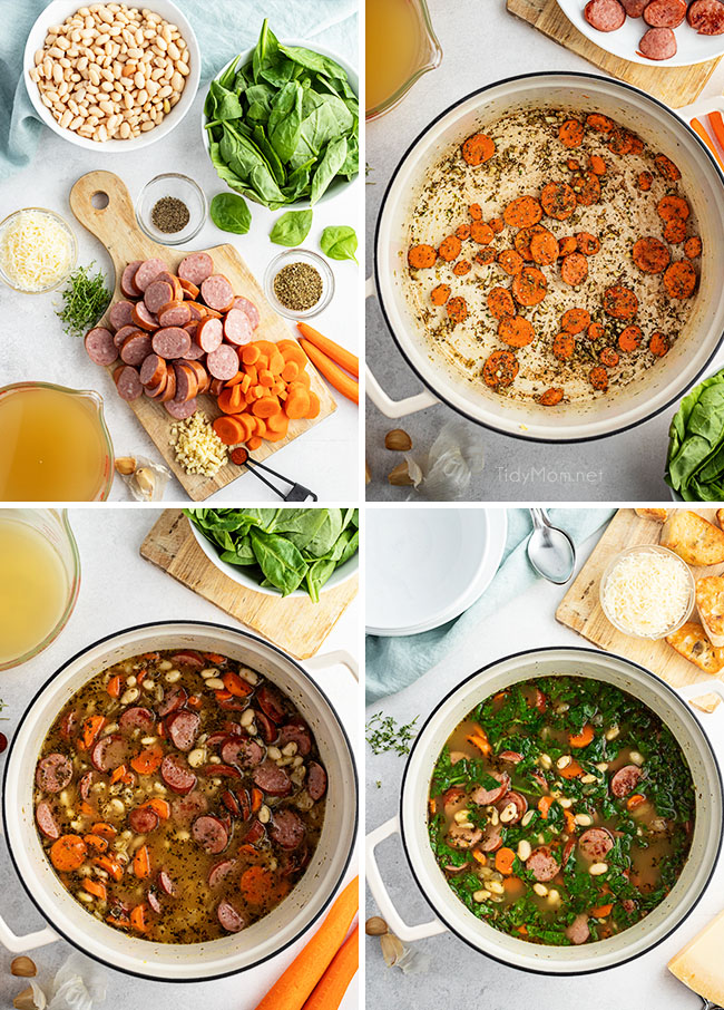 how to make bean soup photo collage