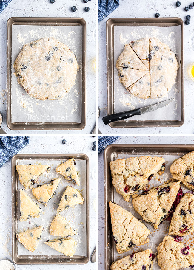 step by step photos of how to make scones