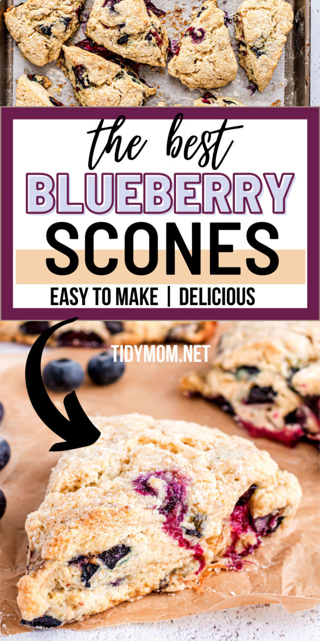 blueberry scones on a counter