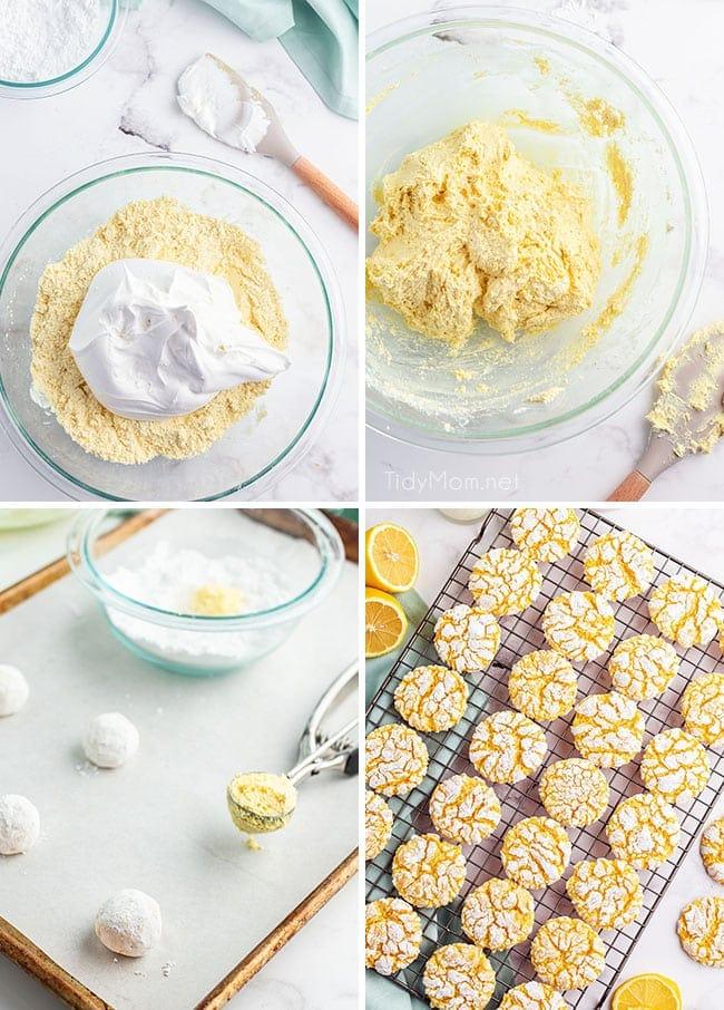 steps on how to make lemon cookies
