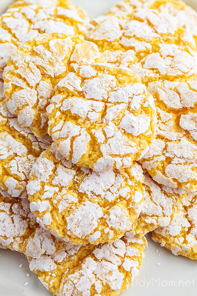 close up of cookies piled on counter