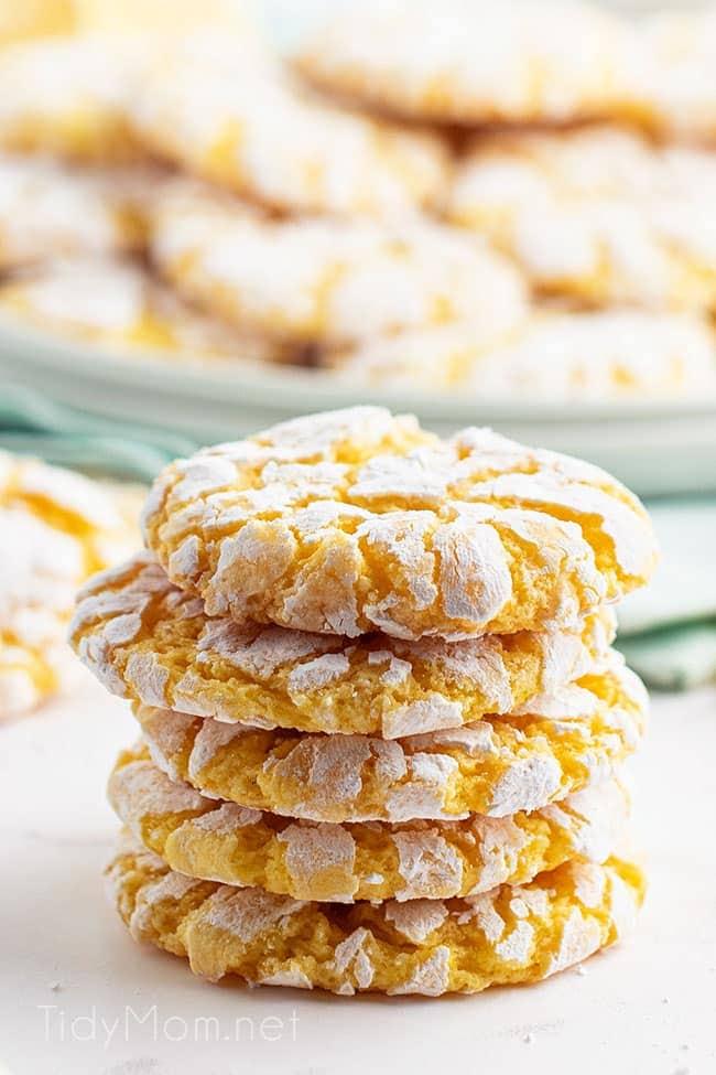 a stack of 5 lemon cookies