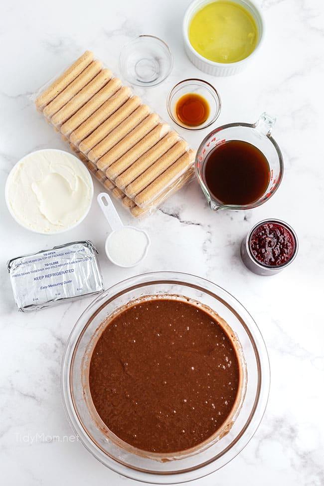 Tiramisu Brownies ingredients
