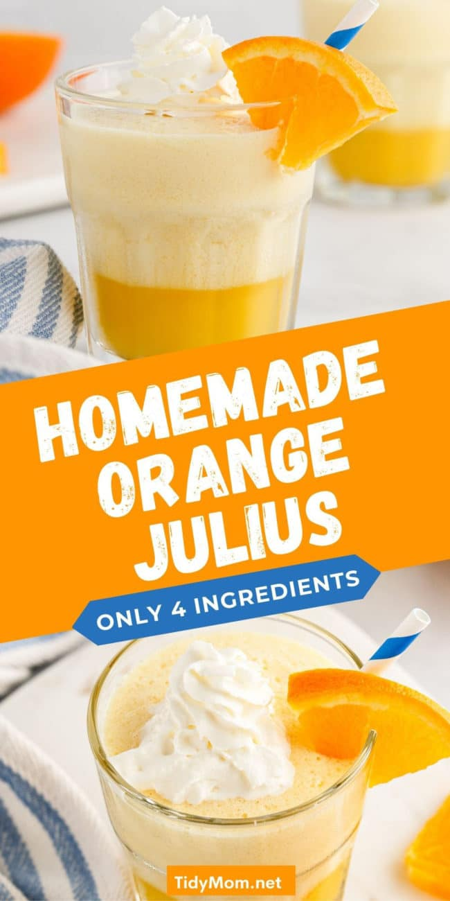an orange julius with whipped cream on top