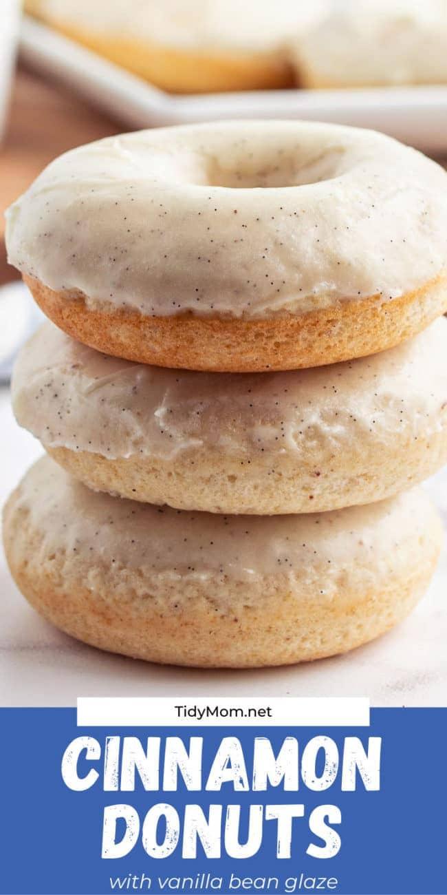 stack of 3 glazed donuts
