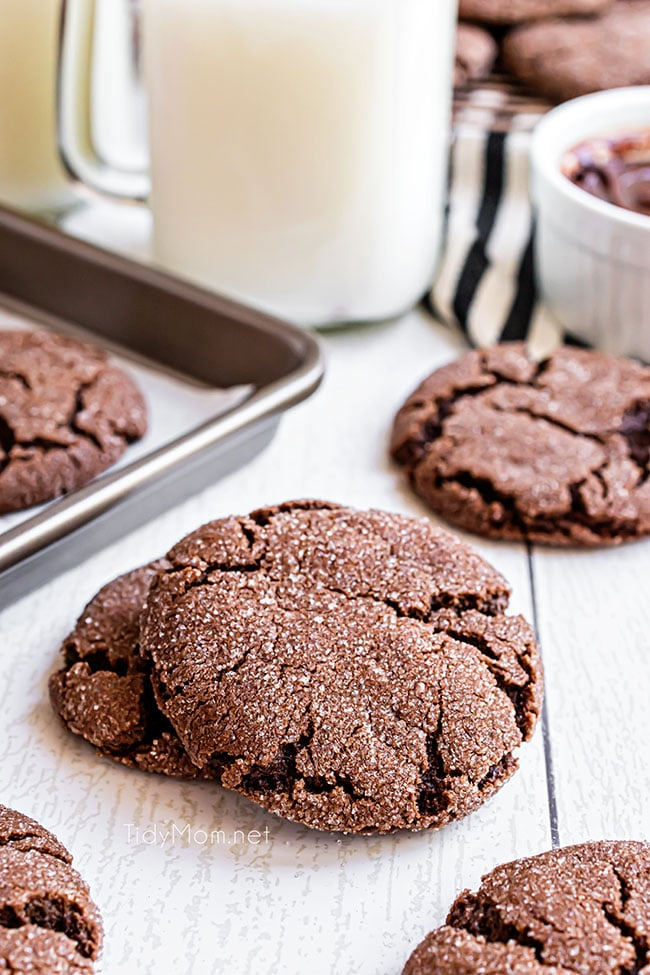 Lava cookies on a counter